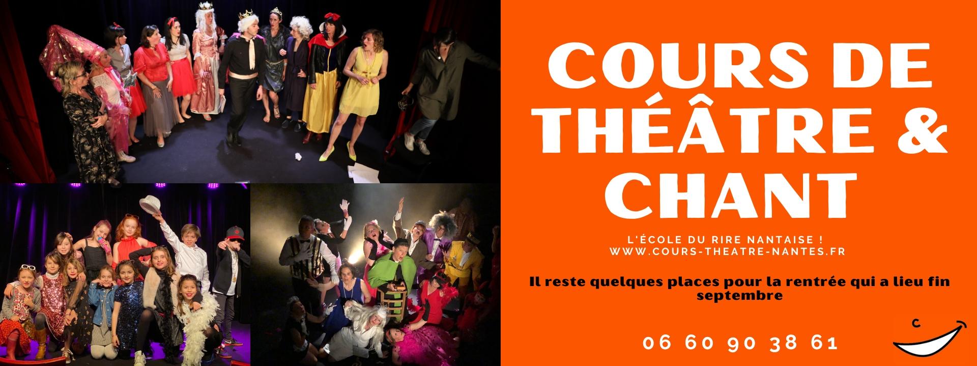 cours de chant et de théâtre à Nantes à la compagnie du café théâtre