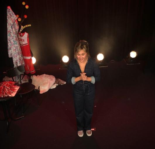 Bérengère Krief le soir de sa première à Nantes à La Compagnie du café théâtre pour le nouveau spectacle
