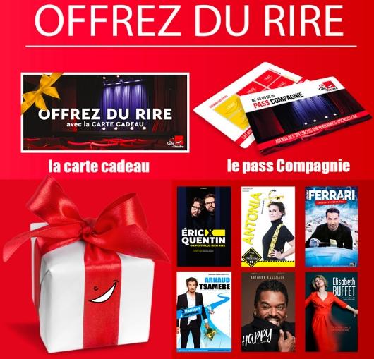 Offrez des cartes cadeaux spectacles à vos amis, vos familles.. Idée cadeau pour les fêtes...