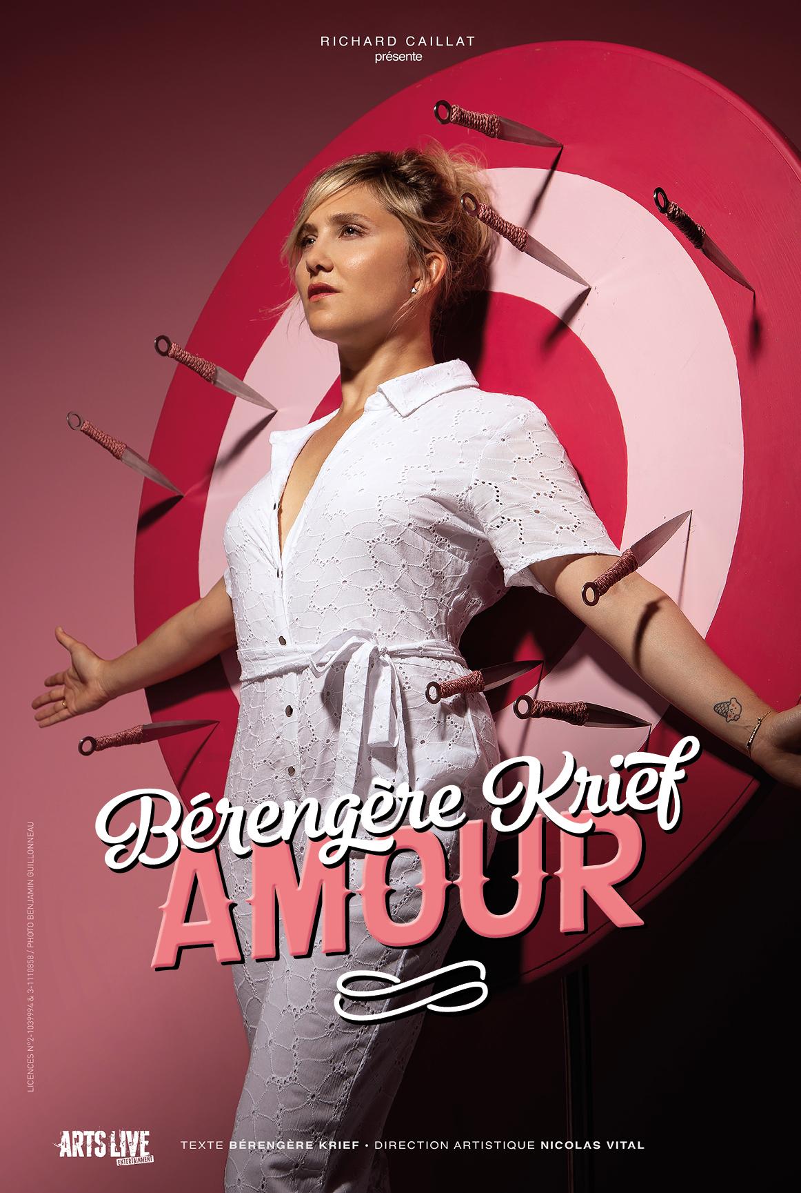 Bérengère Krief en spectacle à La Baule. Un spectacle chargé d'amour et d'humour, en co production avec La Compagnie du café théâtre de Nantes.