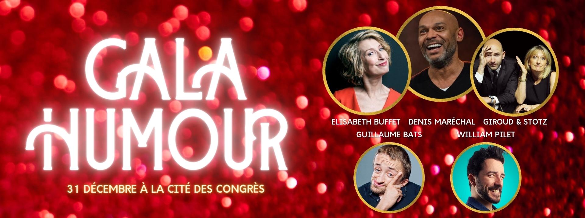 Spectacle d'humour à Nantes avec Elisabeth Buffet, Denis Maréchal, Giroud et Stotz, William Pilet et Guillaume Bats