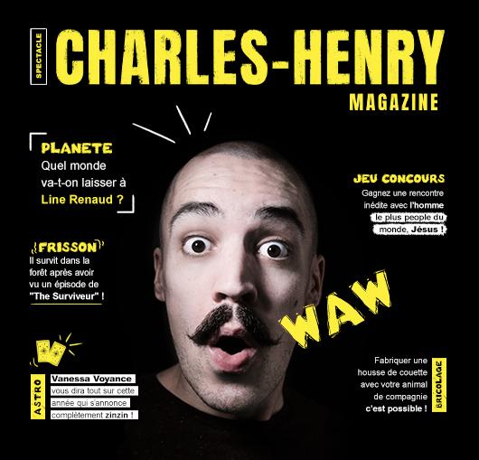 Programmation Charles-Henry à Nantes à la Compagnie, one-man show