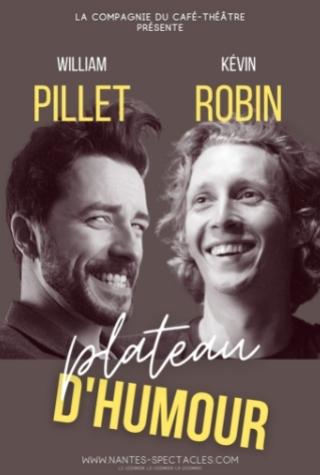 Kévin Robin et William Pilet sur scène à Nantes à La Compagnie du café théâtre
